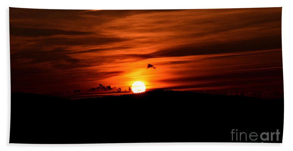 Beauty Bath Sheet featuring the photograph Sunset by Sandy Webster