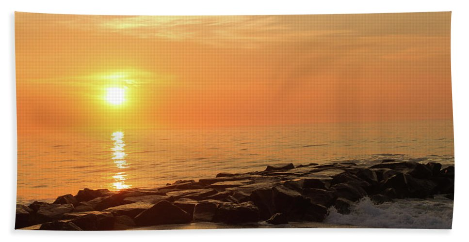 Charleston Hand Towel featuring the photograph Sunset Shore by DA Photography