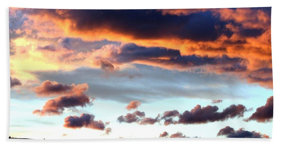 Sunset Bath Sheet featuring the photograph Sunset Supreme by Will Borden