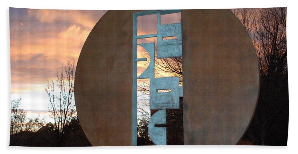 Pop Art Hand Towel featuring the photograph Sunset Thru Art by Rob Hans