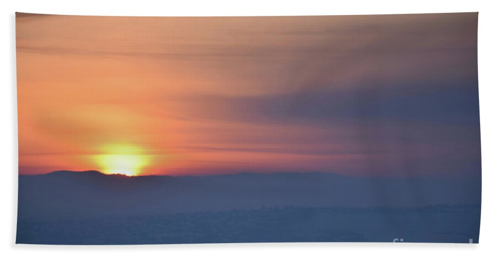 Sunset Hand Towel featuring the photograph Sunset Time by Camelia C