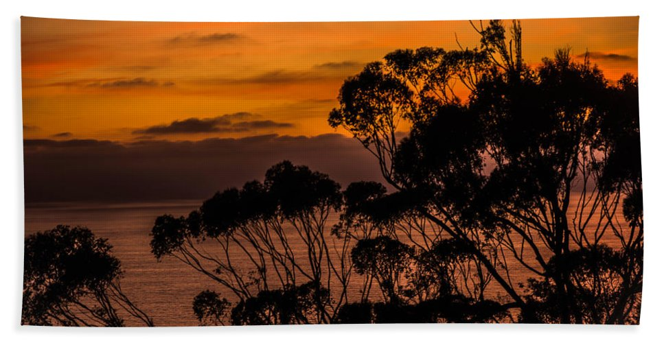 Sunset Hand Towel featuring the photograph Sunset /torrey Pines Image 2 by Bruce Pritchett