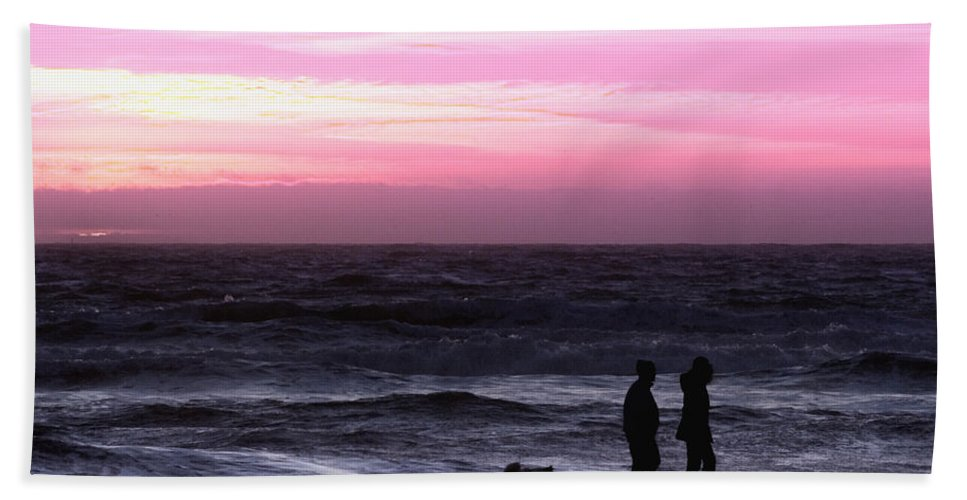 Nature Hand Towel featuring the photograph Sunset Walk by John K Sampson