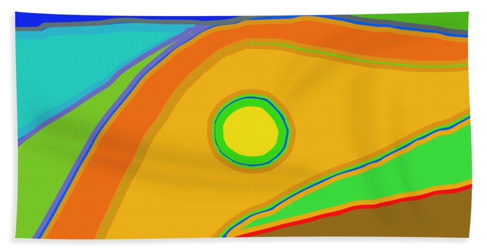 Sun Hand Towel featuring the digital art Sunshine by Jose luis Gambande