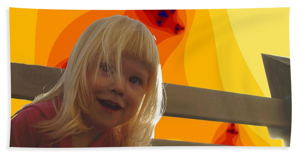 Happy Face Bath Sheet featuring the photograph Sunshine Makes Me Happy by Ron Bissett