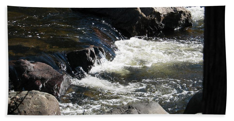 Waterfall Hand Towel featuring the photograph Sunshine On The Fall by Kelly Mezzapelle