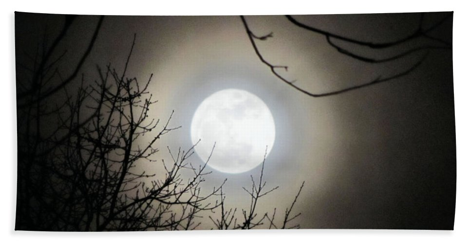 Supermoon Bath Sheet featuring the photograph Super Moon by September Stone