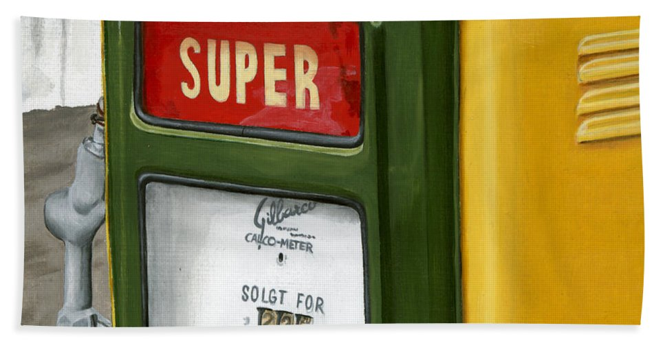 Vintage Hand Towel featuring the painting Super by Rob De Vries