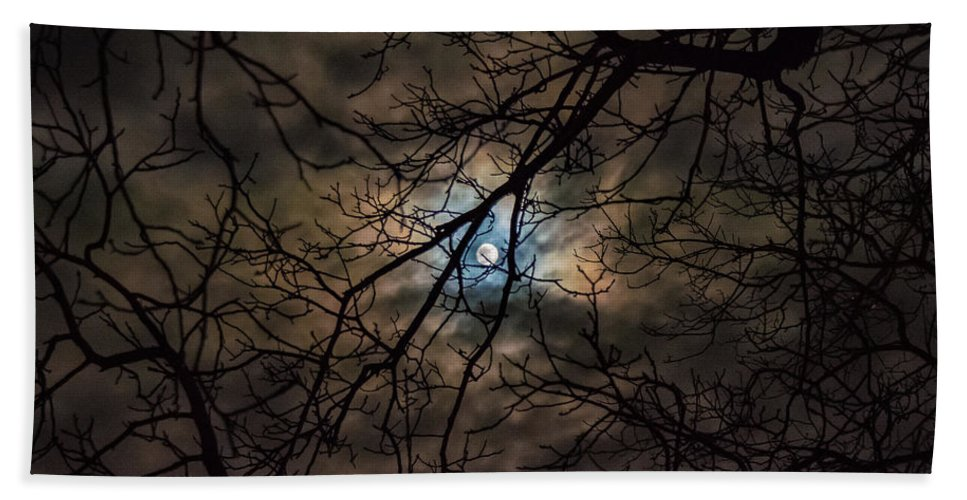 Night Bath Sheet featuring the photograph Supermoon 12-13-16 by Krystal Billett