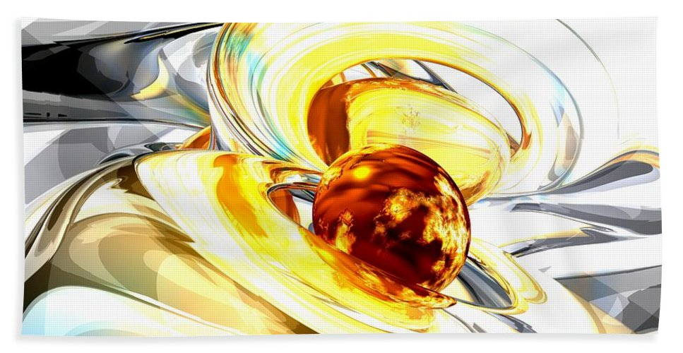 3d Bath Sheet featuring the digital art Supernova Abstract by Alexander Butler