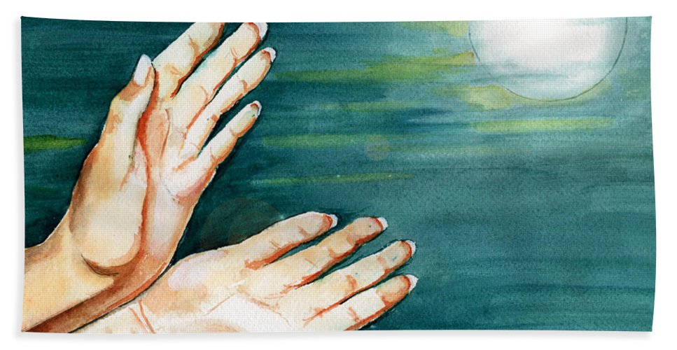 Watercolor Hand Towel featuring the painting Supplication by Brenda Owen