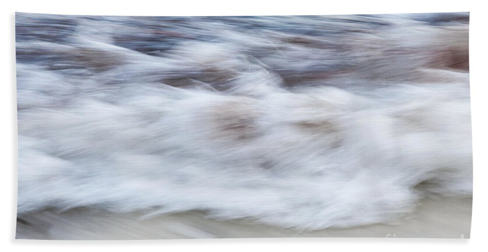 Wave Hand Towel featuring the photograph Surf Abstract 2 by Elena Elisseeva