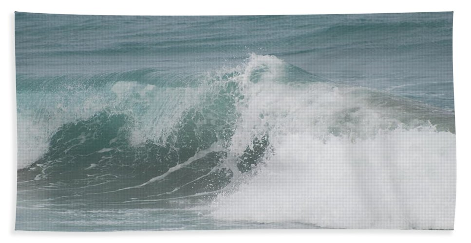 White Bath Sheet featuring the photograph Surf by Rob Hans