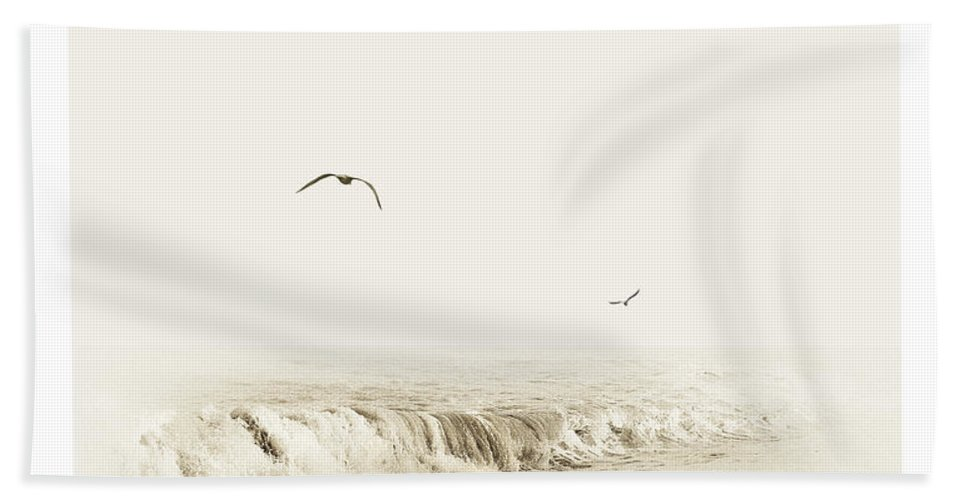 Beach Hand Towel featuring the photograph Surfers by Mal Bray