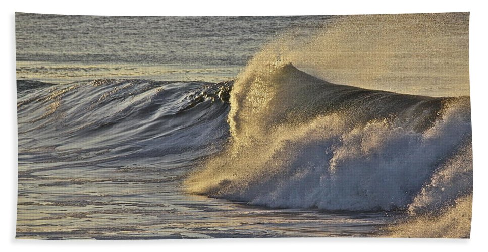 Surf Bath Sheet featuring the photograph Surf's Up by Diana Hatcher