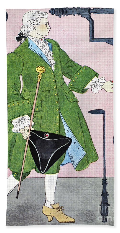 18th Century Hand Towel featuring the photograph Surgeon, 18th Century by Granger