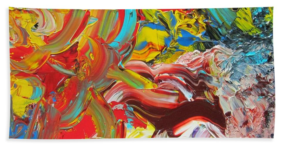 Fusionart Hand Towel featuring the painting Surprise by Ralph White