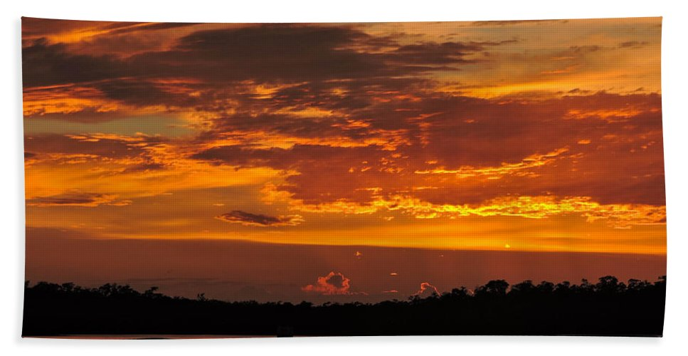 Sunset Bath Sheet featuring the photograph Surreal by Marilee Noland
