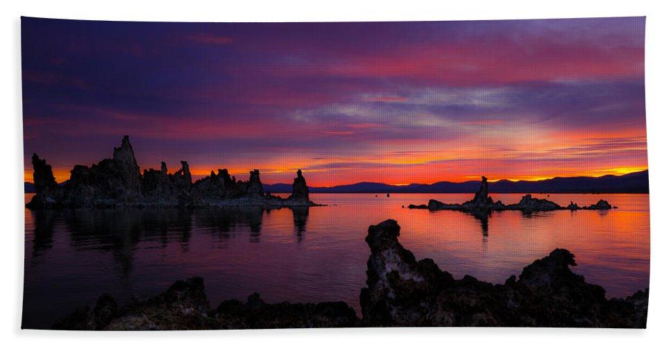 Sunrise Hand Towel featuring the photograph Surreal Sunrise by Renee Sullivan