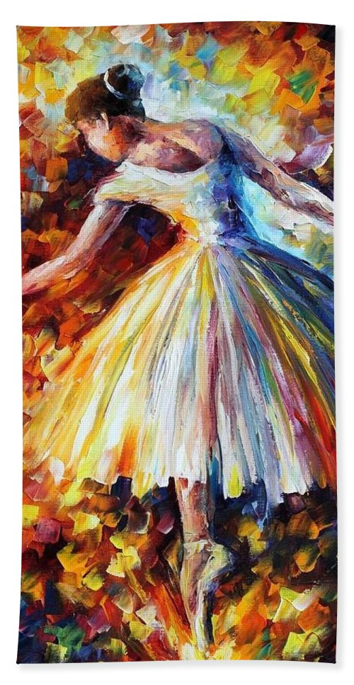 Afremov Hand Towel featuring the painting Surrounded By Music by Leonid Afremov