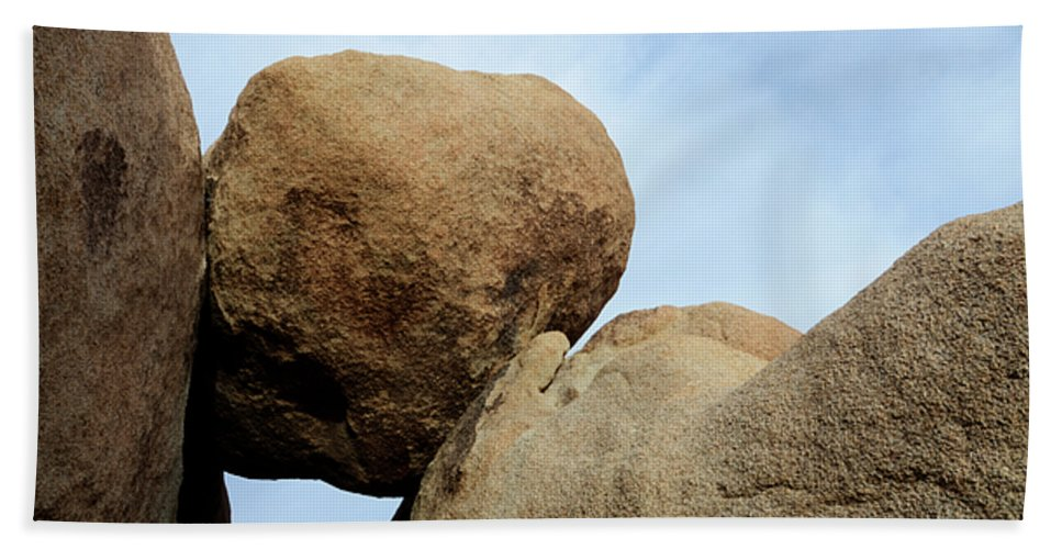 Joshua Tree National Park Hand Towel featuring the photograph Suspended by Bob Christopher