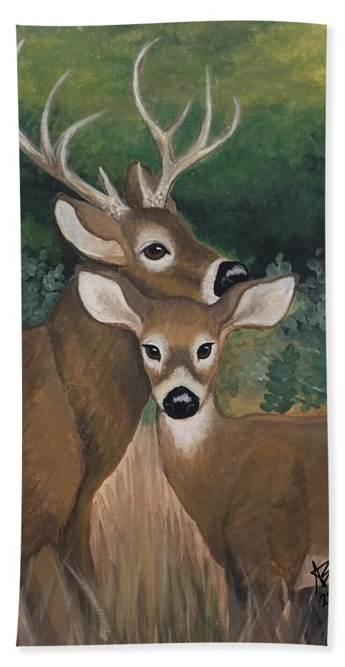 Buck Bath Sheet featuring the painting Suwannee River Afternoon by Amanda Bates