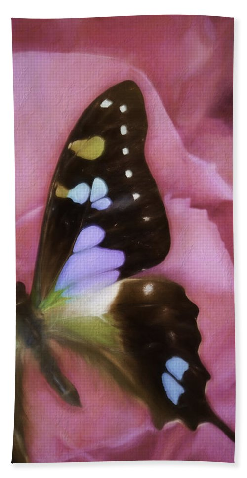 Graphium Weiskei Arfakensis Hand Towel featuring the photograph Swallowtail Dreams by Janet Fikar