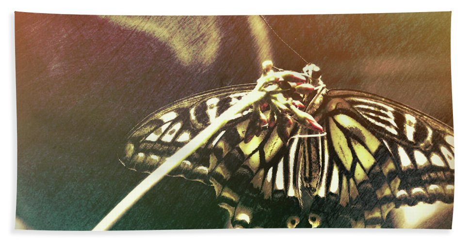 Butterfly Bath Sheet featuring the photograph Swallowtail by JAMART Photography