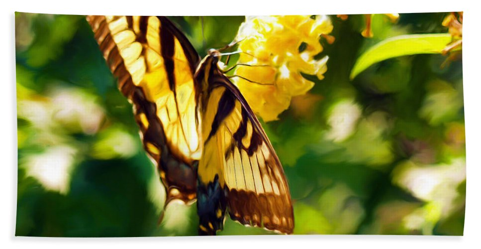 Butterfly Painting Hand Towel featuring the painting Swallowtail by Patricia Griffin Brett