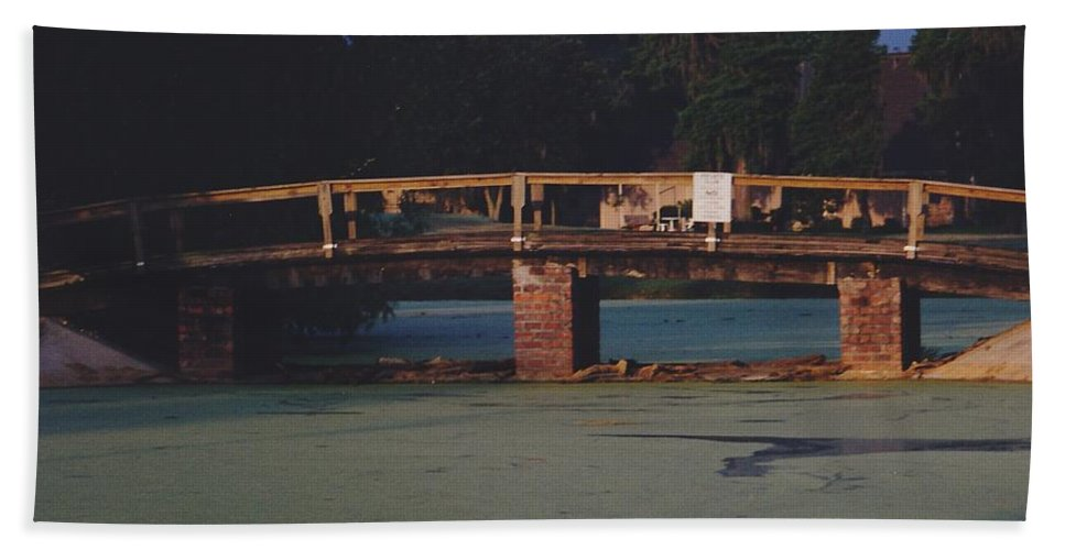 Bridge Bath Sheet featuring the photograph Swamp Bridge by Michelle Powell