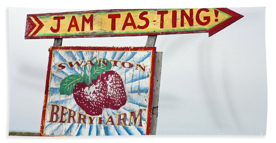 Swanton Berry Farm Bath Sheet featuring the photograph Swanton Berry Farm Davenport by Jason O Watson