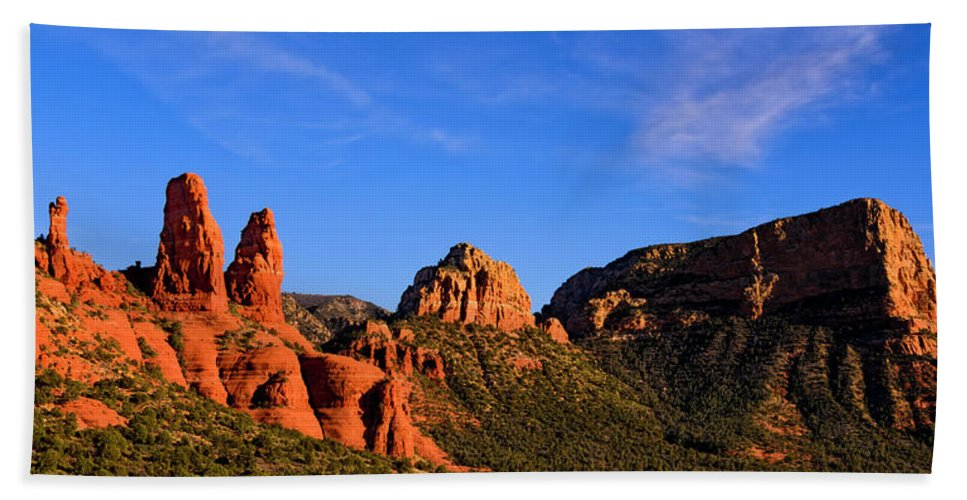 Mark Myhaver Photography Bath Sheet featuring the photograph Sweeping Sedona by Mark Myhaver