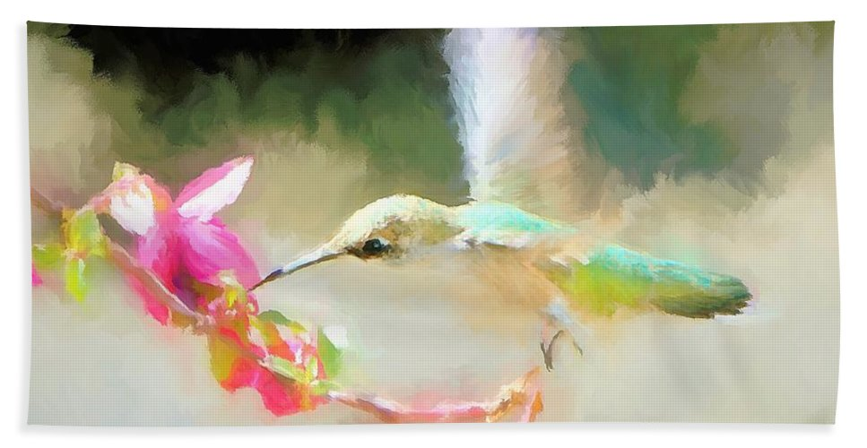 Hummingbird Bath Sheet featuring the photograph Sweet Angel by Tina LeCour