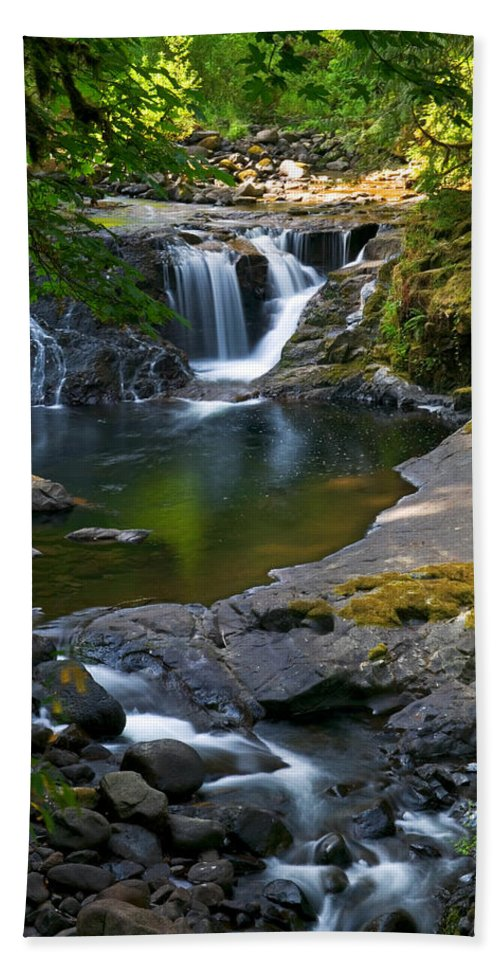 Creek Hand Towel featuring the photograph Sweet Creek by Randall Ingalls