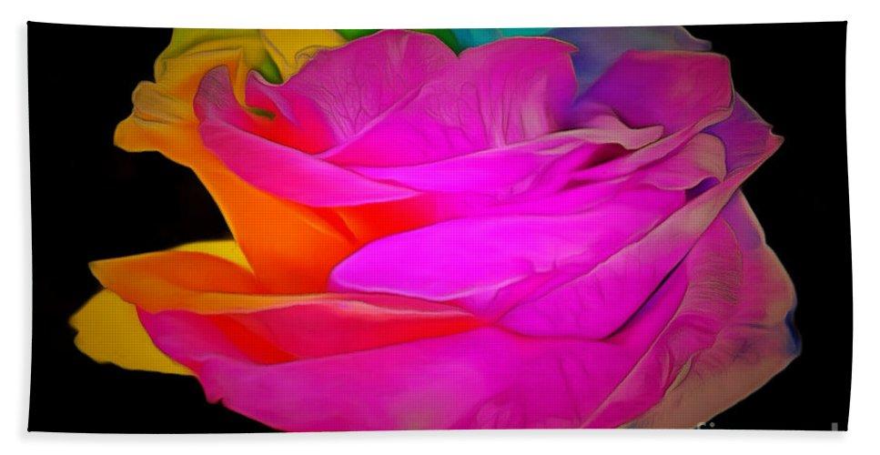 Rose Bath Sheet featuring the photograph Sweet Emotion by Krissy Katsimbras
