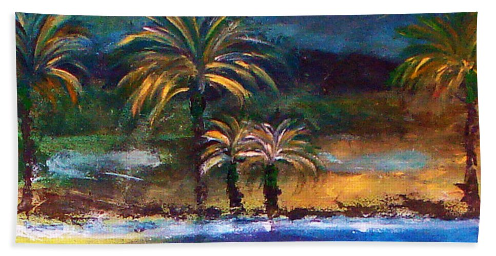 Acrylic Painting Hand Towel featuring the painting Sweet Escape by Yael VanGruber
