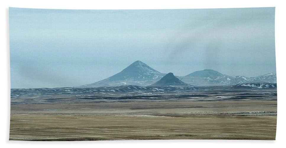 Sweet Grass Hills Bath Sheet featuring the photograph Sweet Grass Hills Pyramids by Tracey Vivar
