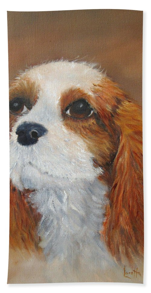 Pet Hand Towel featuring the painting Sweet Maggie by Loretta Luglio