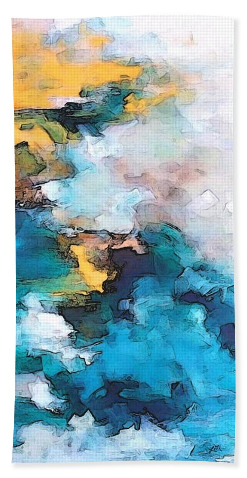 Abstract Hand Towel featuring the digital art Sweet Memory Shades by Linda Mears