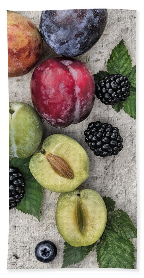Plum Bath Sheet featuring the photograph Sweet Plums by TouTouke A Y