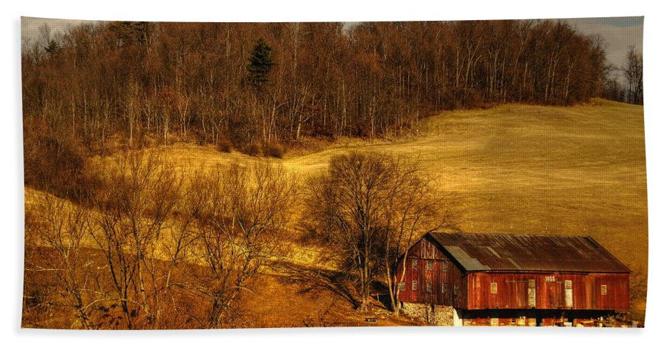 Barn Bath Sheet featuring the photograph Sweet Sweet Surrender by Lois Bryan