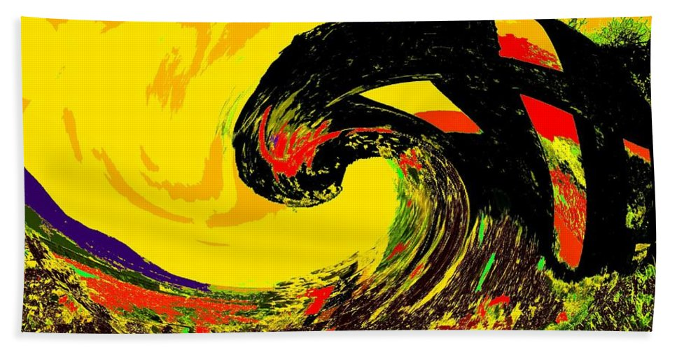 Abstract Hand Towel featuring the photograph Swept Away by Ian MacDonald