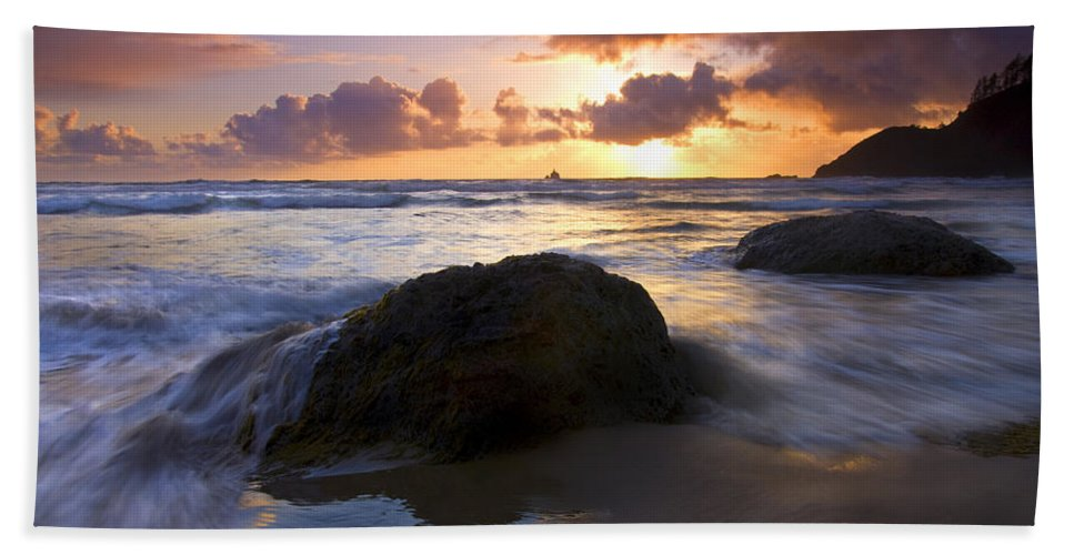 Sunset Bath Sheet featuring the photograph Swept Away by Mike Dawson