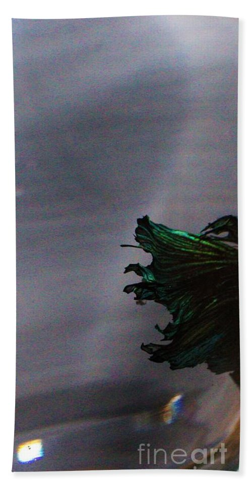 Betta Fish Bath Sheet featuring the photograph Swimming Down by LKB Art and Photography