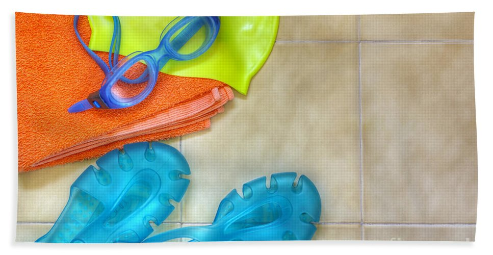 Accessory Bath Sheet featuring the photograph Swimming Gear by Carlos Caetano