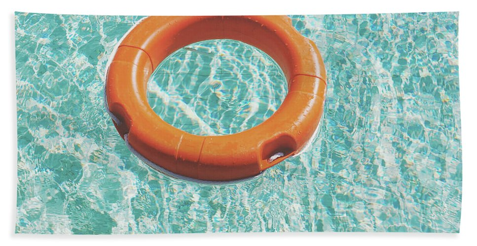 Water Bath Towel featuring the photograph Swimming Pool III by Cassia Beck