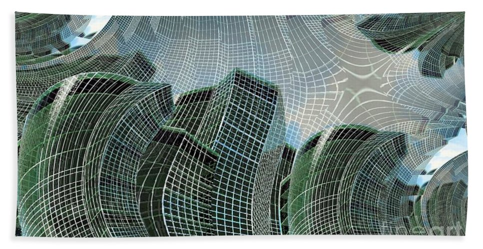 Glass Tower Bath Sheet featuring the digital art Swing City by Ron Bissett