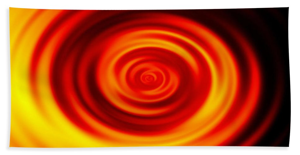 Swirled Hand Towel featuring the digital art Swirled Sunrise by Rhonda Barrett