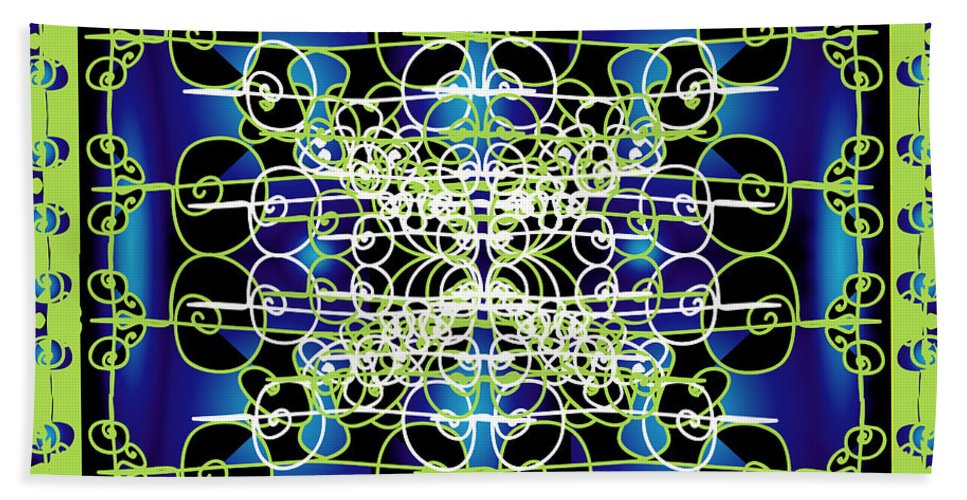Abastract Bath Sheet featuring the digital art Swirling 1 by George Pasini