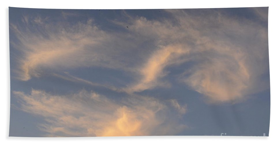 Swirl Bath Sheet featuring the photograph Swirling Clouds by Elaine Berger